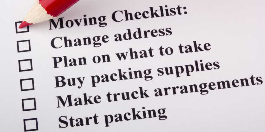 home moving, moving checklist